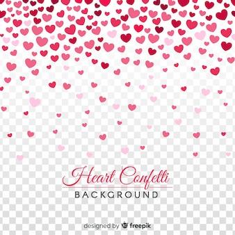 Fond de confettis de coeur
