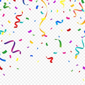 Fond de confettis coloré pour des célébrations festives