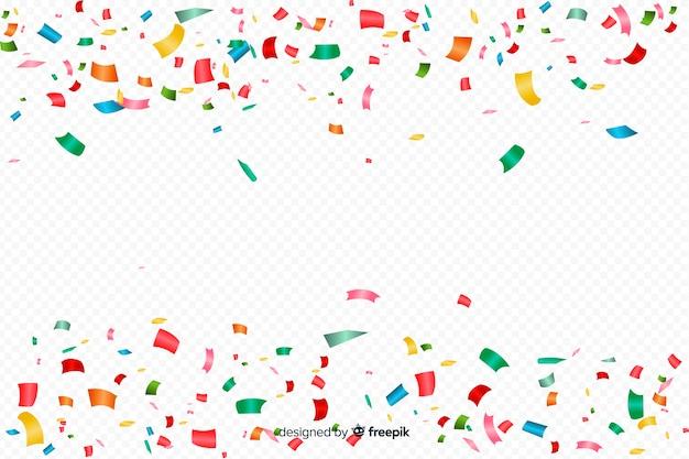 Fond de confettis coloré réaliste