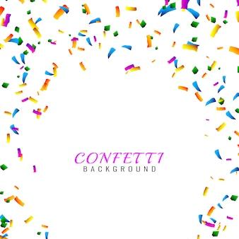 Fond de confettis colorés abstraits