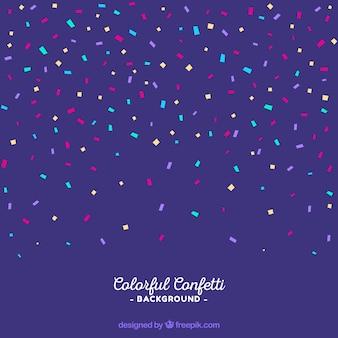 Fond de confettis colorés dans un style plat