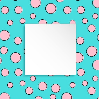 Fond de confettis colorés pop art