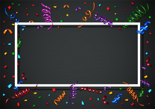 Fond de confettis colorés