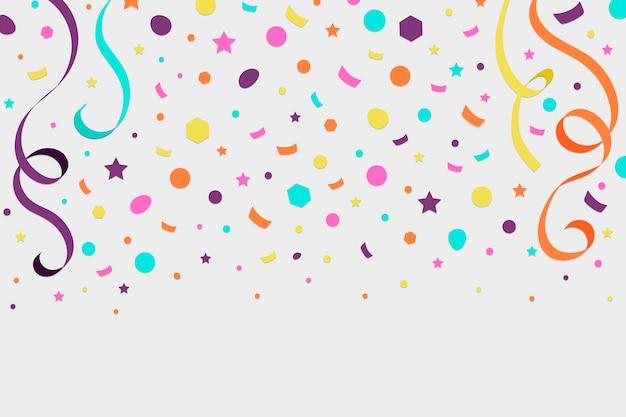 Fond de confettis design plat