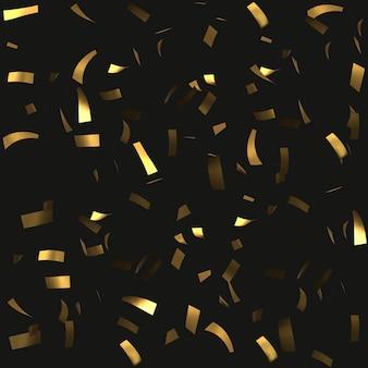 Fond de confettis dorés.