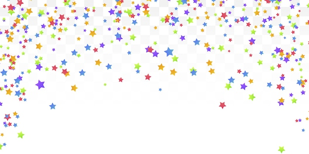 Fond de confettis étoiles colorés.