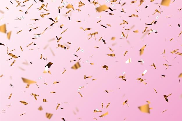 Fond de confettis floue réaliste
