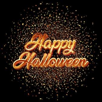 Fond de confettis happy halloween glitter