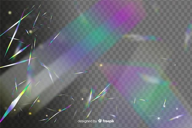 Fond de confettis holographique lumineux