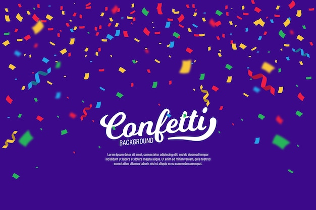 Fond de confettis multicolores