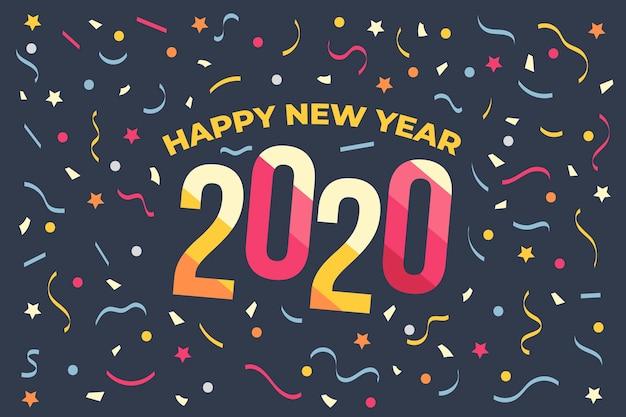 Fond de confettis nouvel an 2020