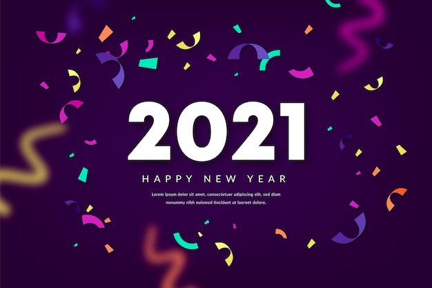 Fond de confettis nouvel an 2021