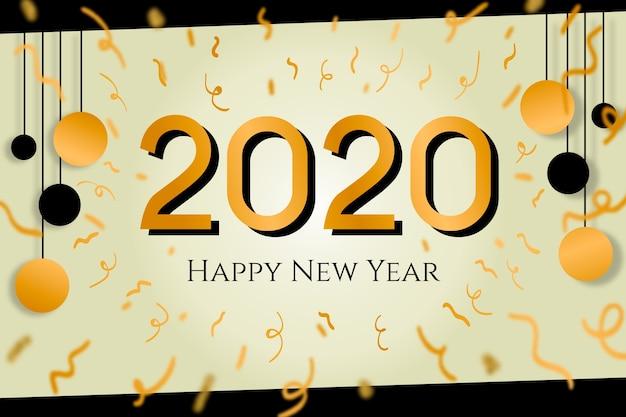 Fond de confettis de nouvel an