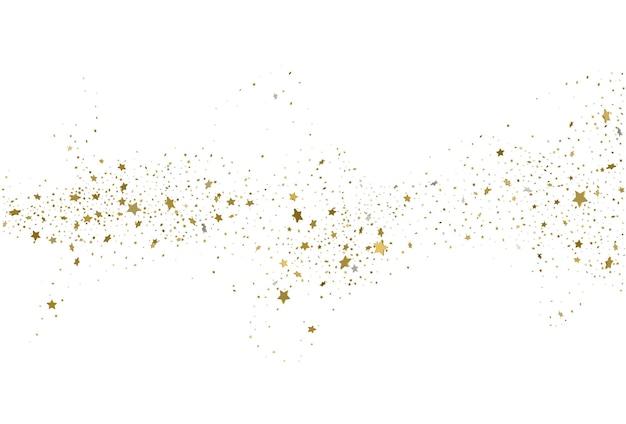 Fond de confettis de paillettes d'or clair d étoiles
