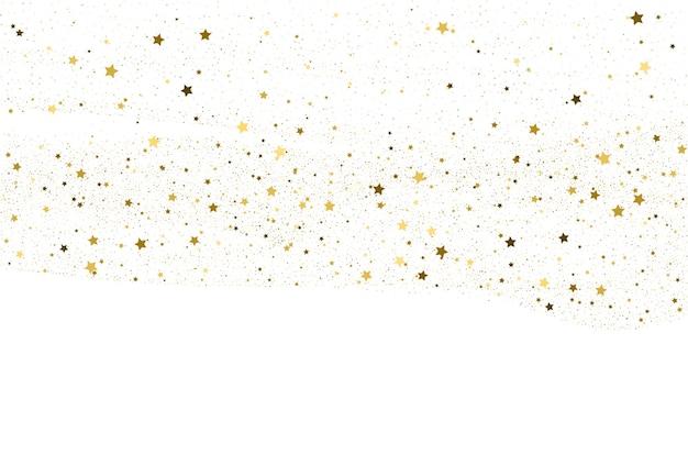 Fond de confettis de paillettes d'or clair. papier numérique étoiles d'or. texture de vacances blanches