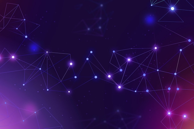 Fond de connexion réseau abstrait