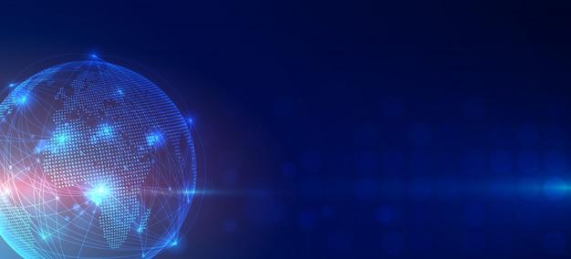 Fond de connexion réseau global