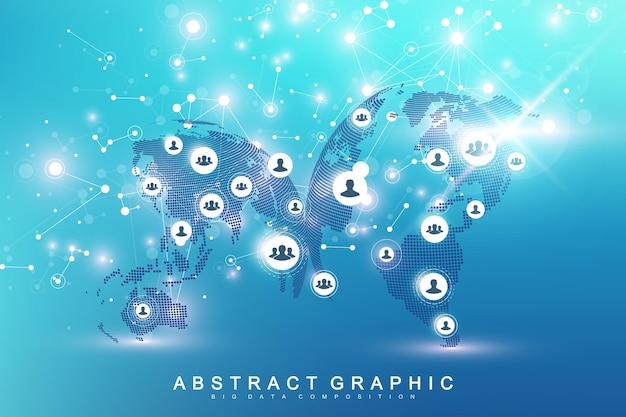 Fond de connexion réseau mondial