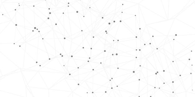 Fond de connexions réseau avec lignes et points de connexion