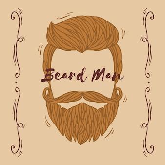 Fond de conscience movember moustache avec lettrage