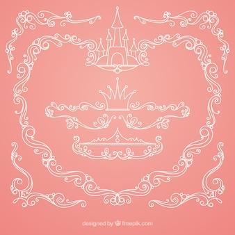 Fond de conte de fées rose