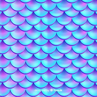 Fond de conte de sirène réaliste holographique