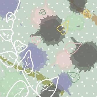 Fond contemporain avec des fleurs