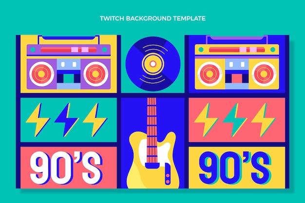 Fond de contraction du festival de musique des années 90 design plat