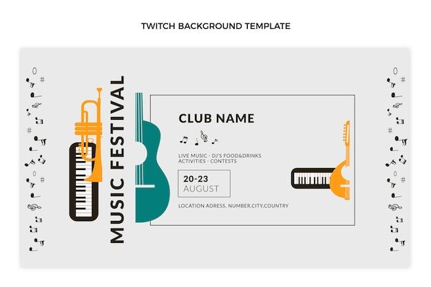 Fond de contraction du festival de musique minimal plat