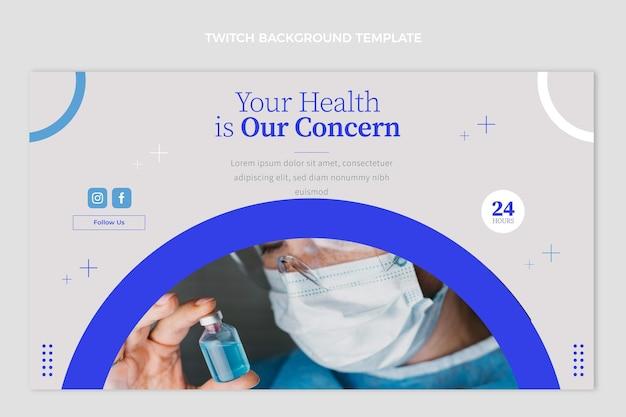 Fond de contraction médicale design plat