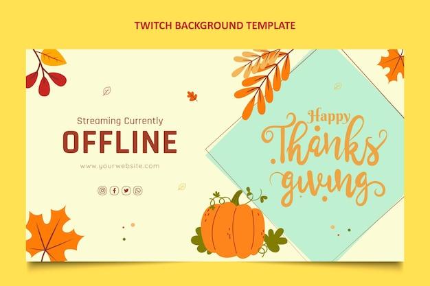 Fond de contraction de thanksgiving design plat dessiné à la main