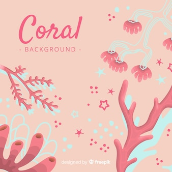 Fond de corail dessiné à la main