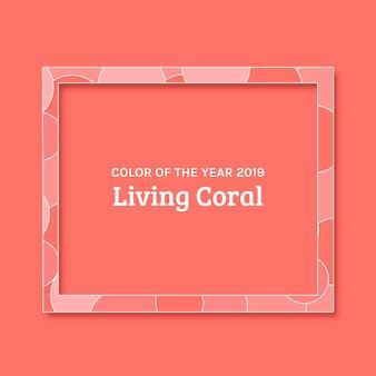 Fond de corail vivant