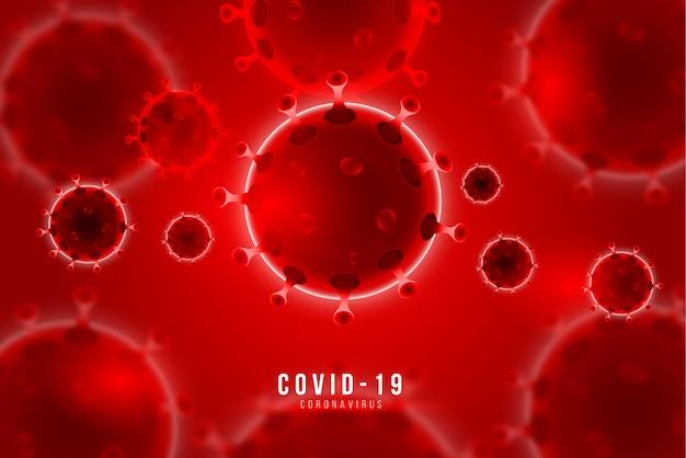 Fond de coronavirus avec des cellules de maladie covid-19