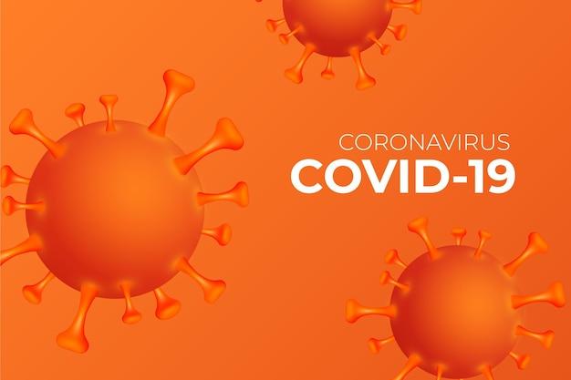 Fond de coronavirus monochromatique
