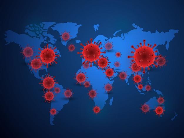 Fond de coronavirus