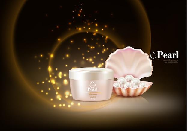 Fond cosmétique avec perle