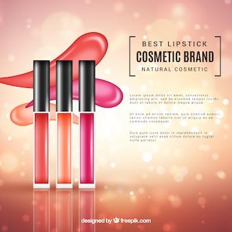 Fond de cosmétiques avec un style réaliste
