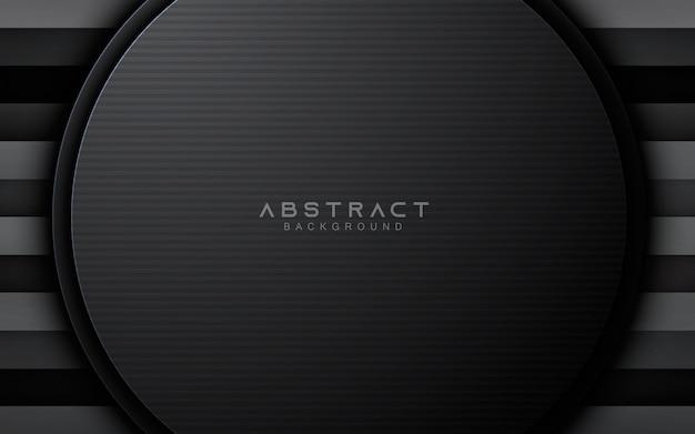 Fond de couche de cercle abstrait noir