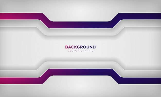 Fond de couche de chevauchement abstrait blanc avec une couleur dégradée violette colorée.