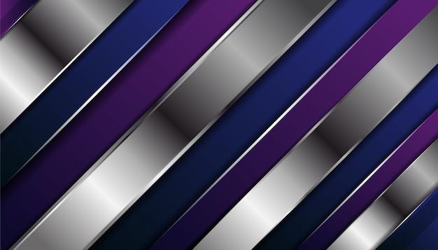 Fond de couche de chevauchement violet et argent