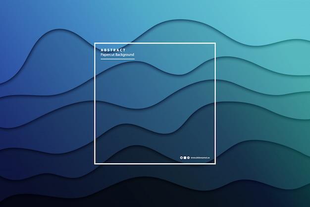 Fond de couche de papier découpé réaliste pour la décoration et le revêtement. concept de modèle abstrait géométrique.