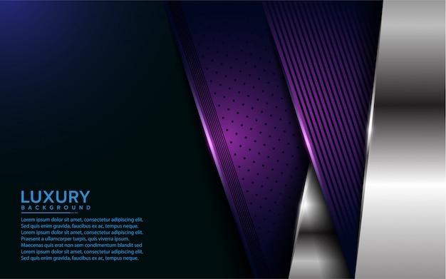 Fond de couche de recouvrement luxueux violet et argent