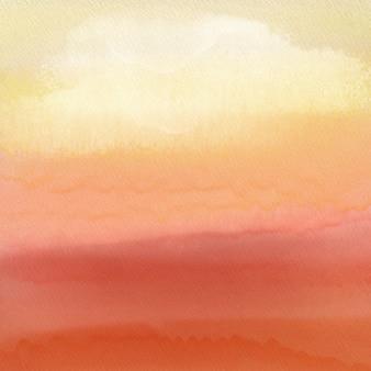 Fond de coucher de soleil aquarelle