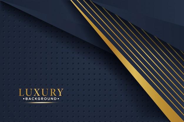 Fond de couches de chevauchement noir de luxe avec des paillettes et des lignes dorées.