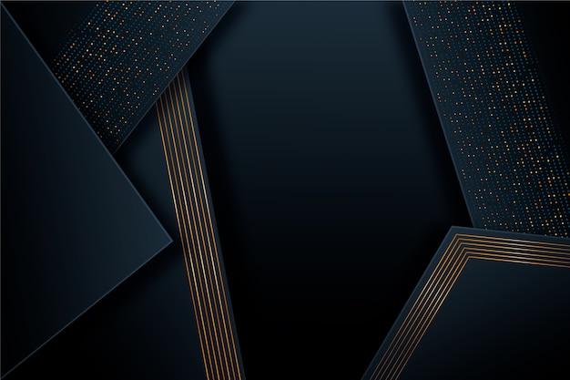 Fond de couches de papier foncé détails dorés