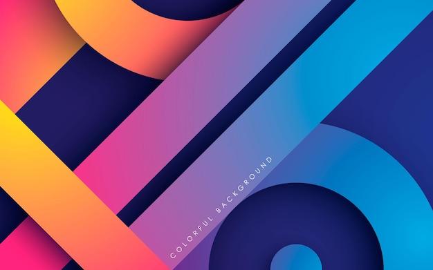 Fond de couches superposées modernes et colorées
