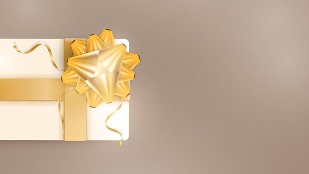 Fond de couleur chocolat avec des coffrets cadeaux de couleur champagne réalistes