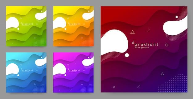 Fond de couleur dégradé abstrait