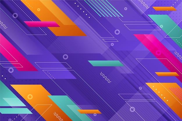 Fond de couleur dégradé avec des formes géométriques